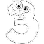 číslice pro děti k vytisknutí