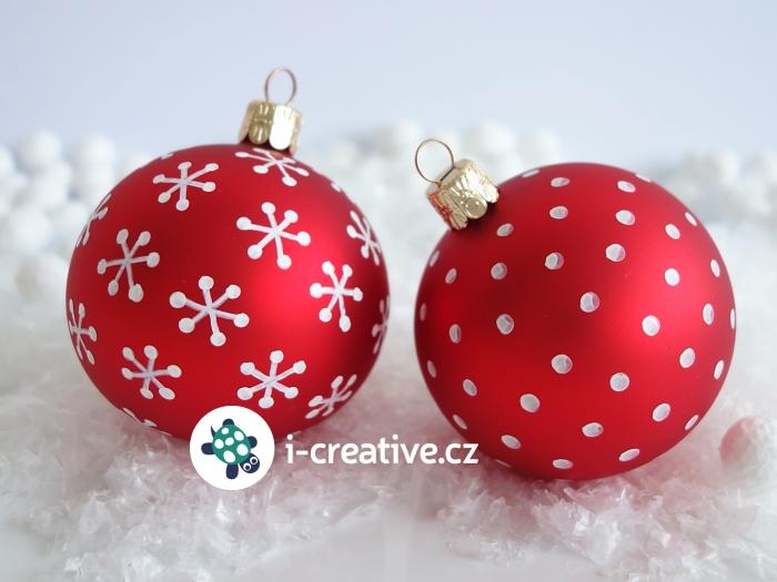 čím a jak kreslit na skleněné vánoční ozdoby