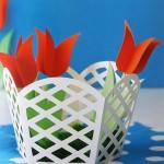 topp barevné košíčky z papíru - jednoduché a působivé
