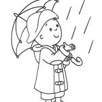 dítě v pláštěnce omalovánka