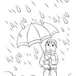 deštivé počasí omalovánka