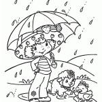 deštivý den omalovánka k vytisknutí