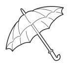 deštník k vytisknutí