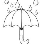 omalovánka deštník