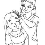 maminka a dcera omalovánka