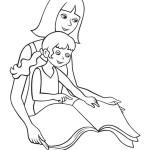 maminnka dcera omalovánka