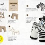 jak vyrobit zebru z roliček
