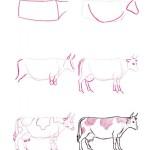 jak nakreslit krávu