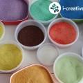 Návod jak vyrobit barevné písky
