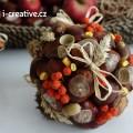 Podzimní dekorační koule – návod