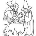 Čarodějnice omalovánky – pálení čarodějnic, májka
